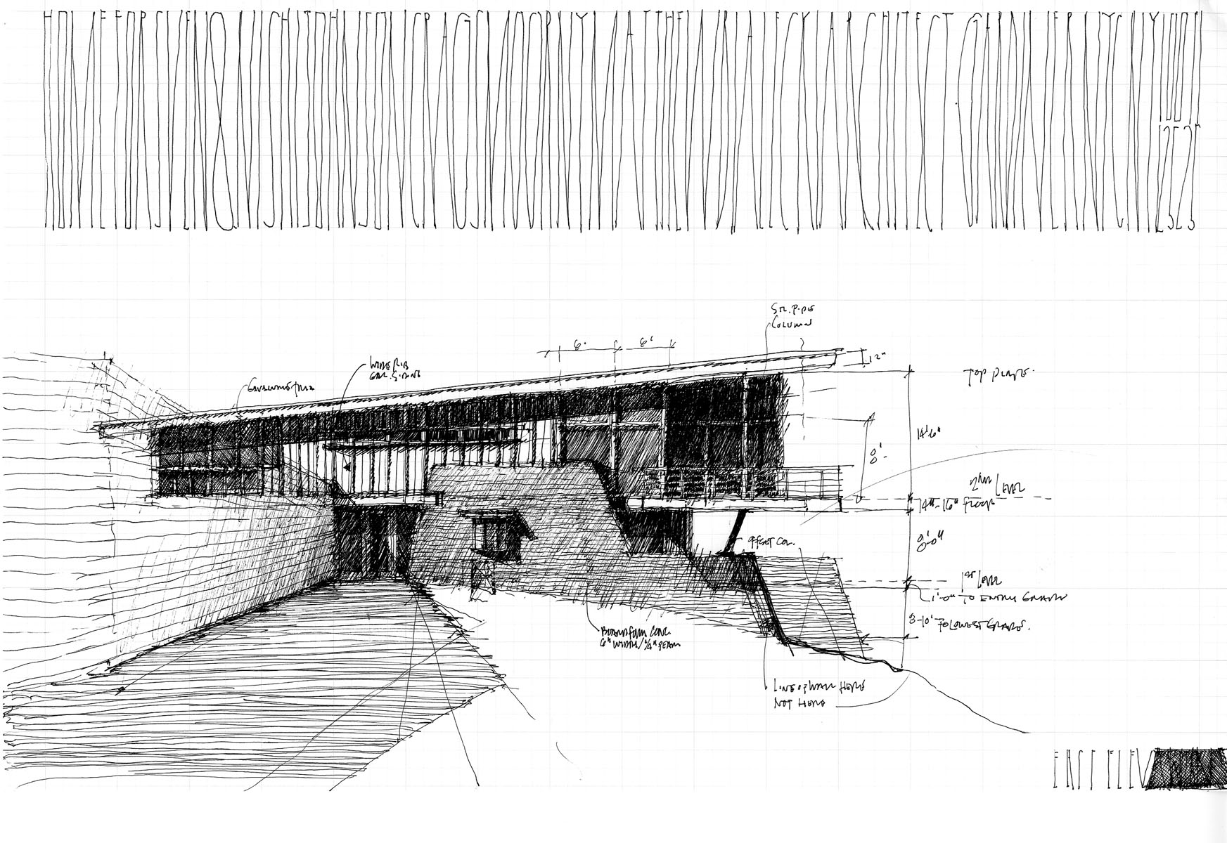 Entry Elevation Sketch