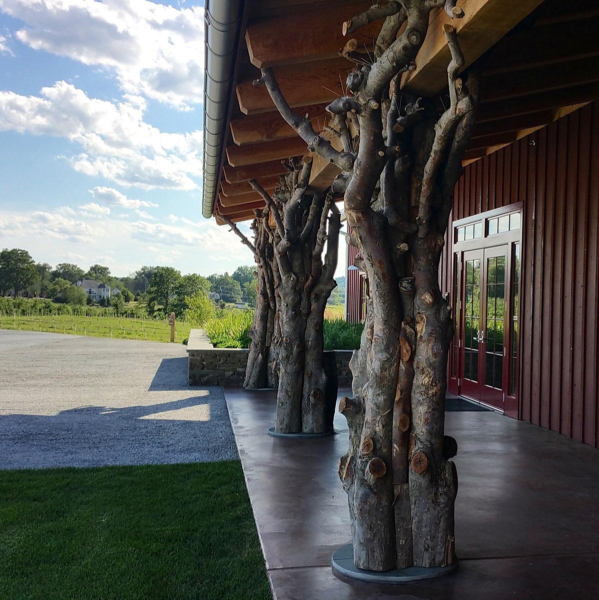 Rustic Timber Columns