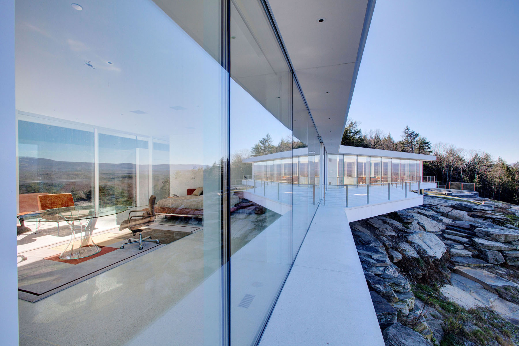 Glass house bialecki architects for Terrace elevation