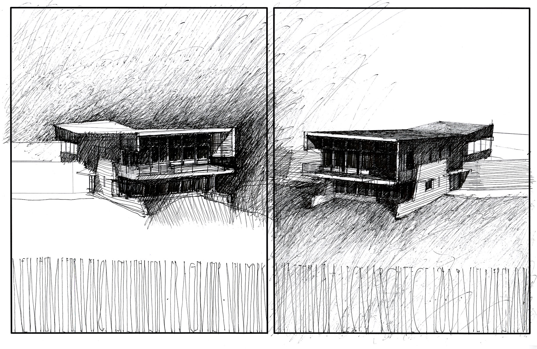 North Elevation Sketch Studies