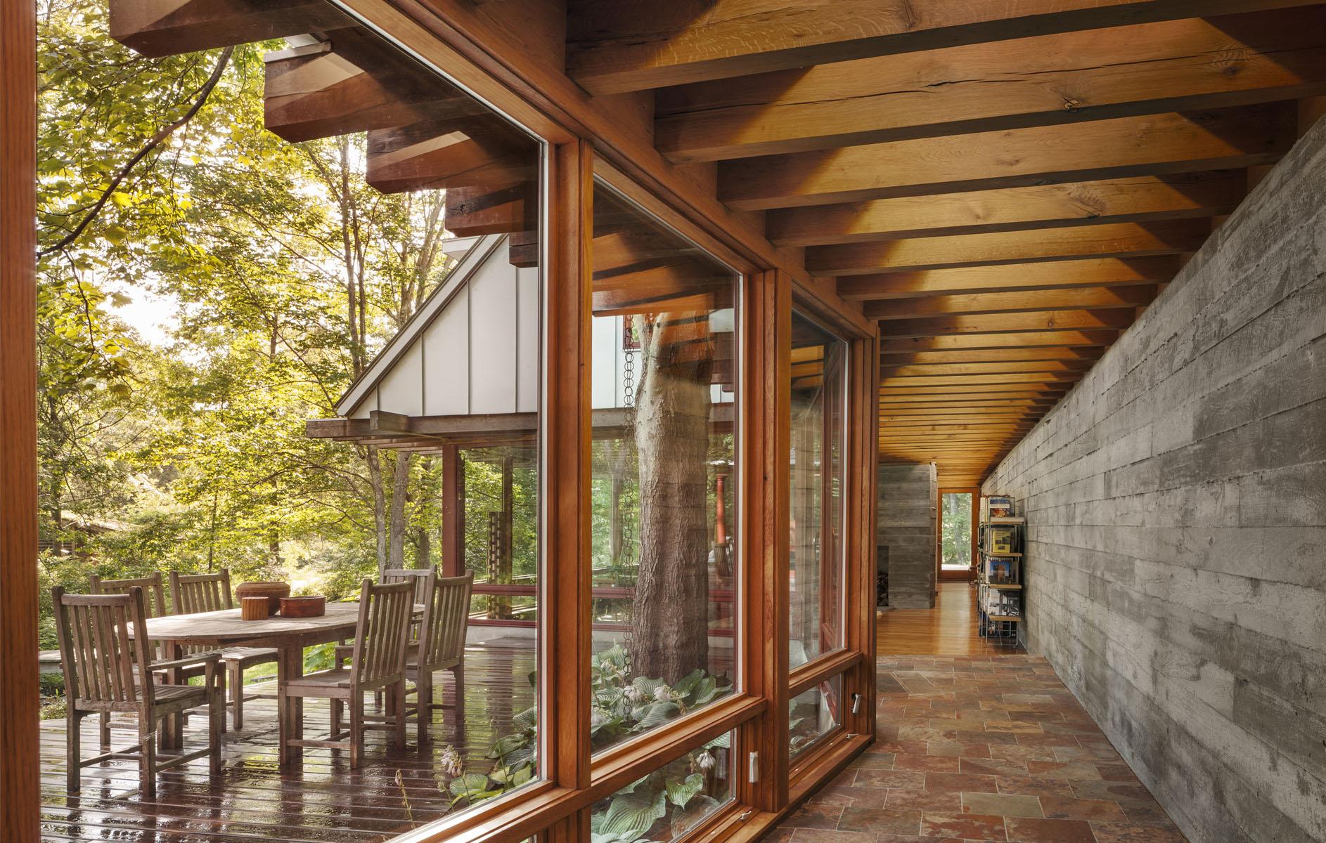 Hallway & Courtyard