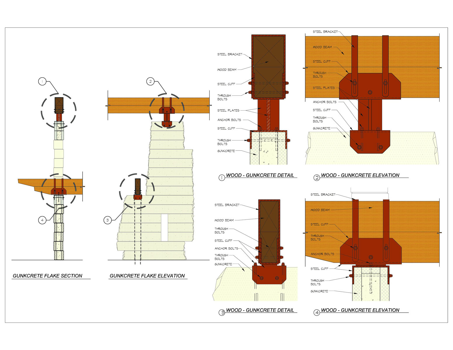 Steel and Gunkcrete Construction Drawings