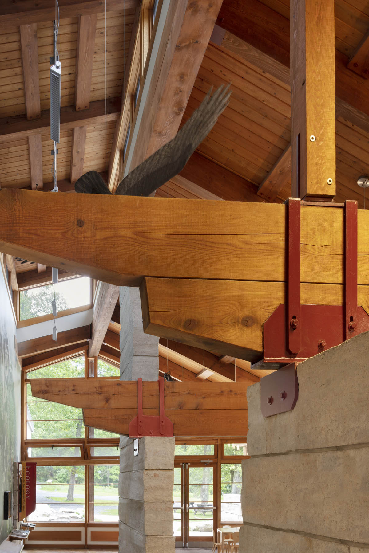 Timber Framing Detail with Steel