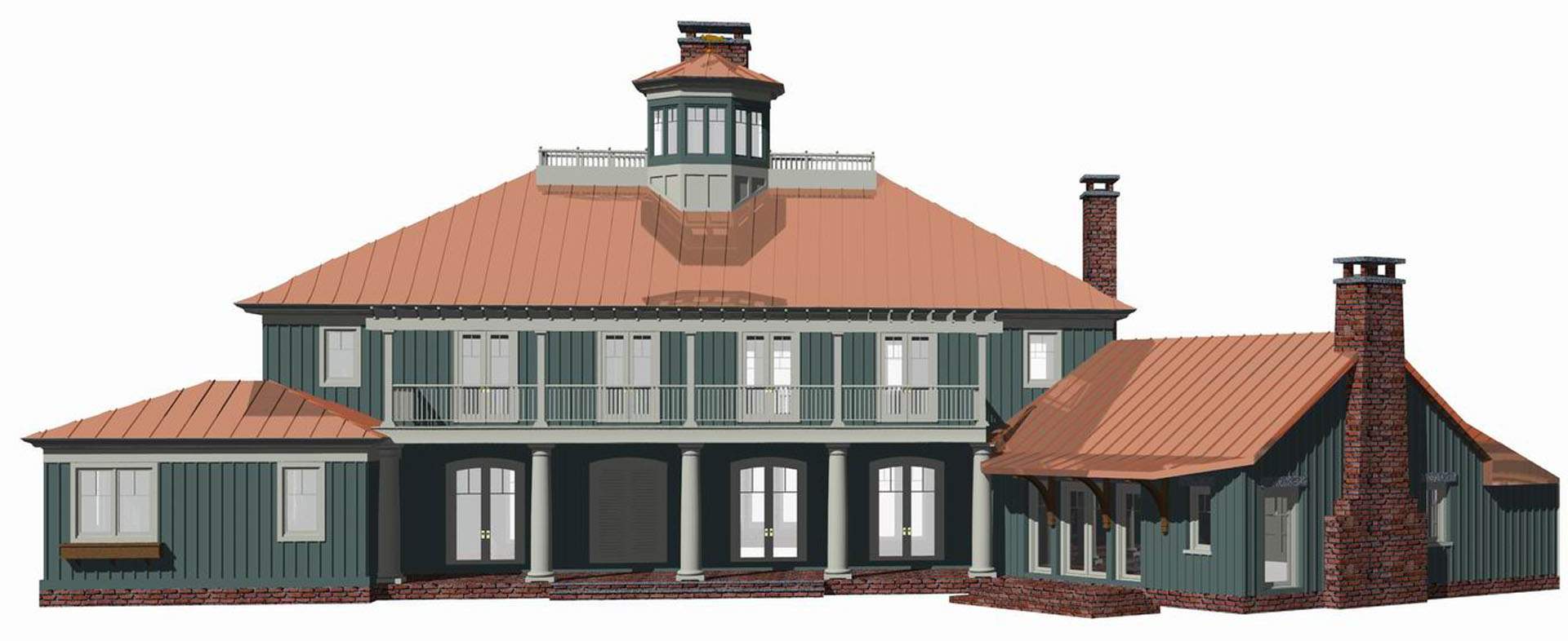Virtual Model of Front Elevation