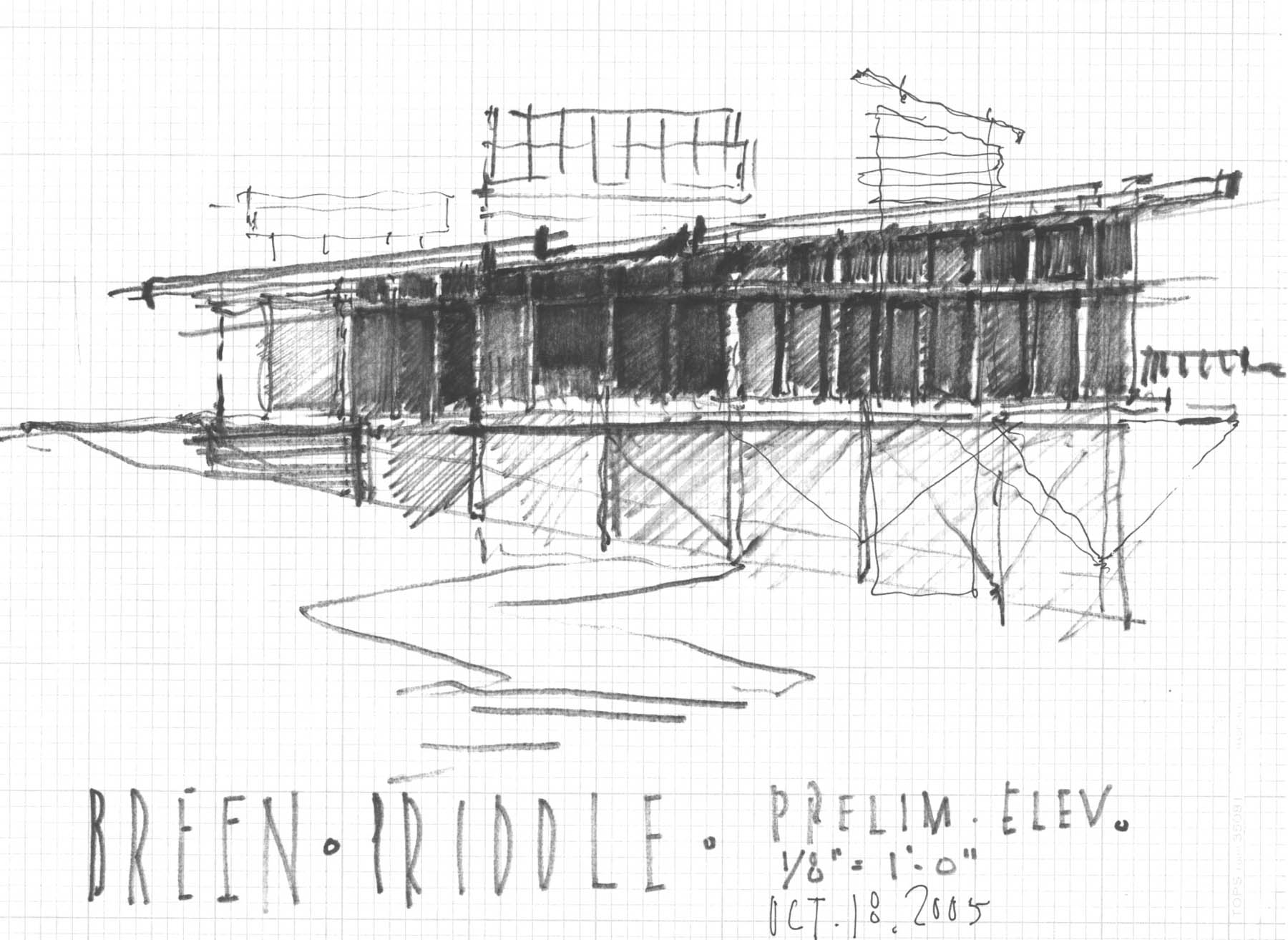 South Elevation Concept Sketch