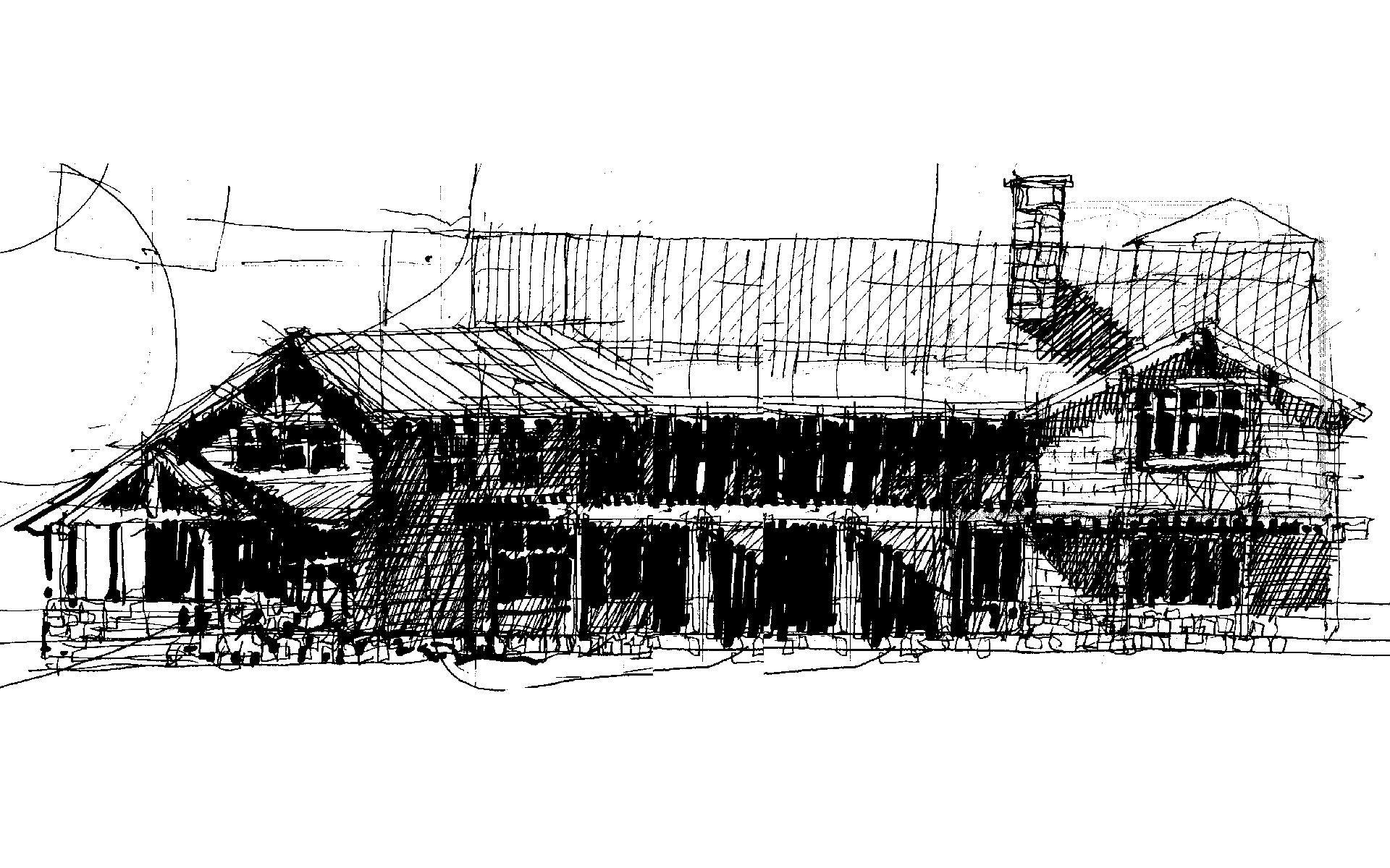West Elevation Sketch