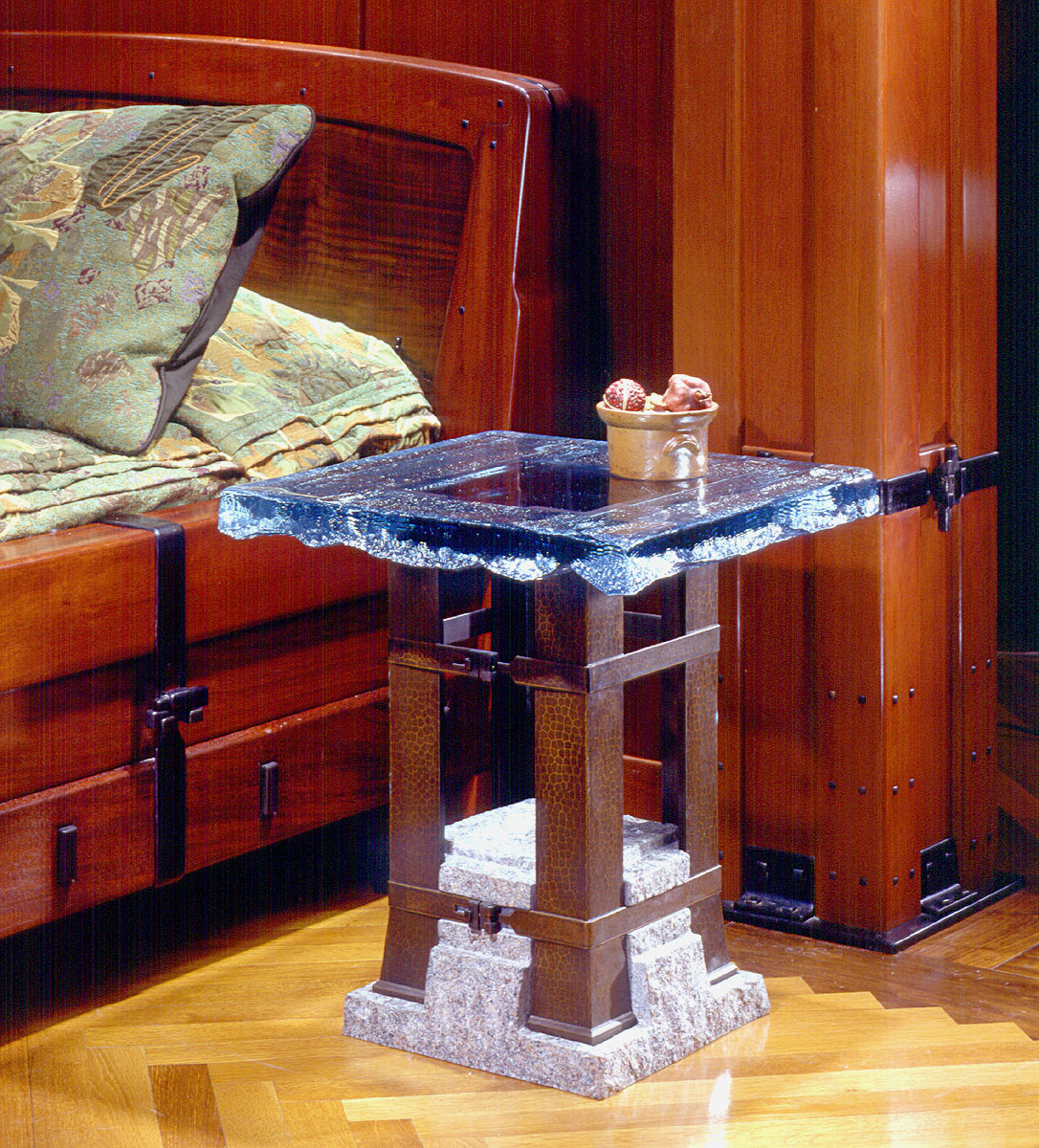 Glass Crystal Table